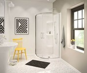 137444-900-305-000 Maax Radia Neo-round 36 In X 36 In X 71.625 In Sliding Corner Shower Door With Clear Glass In Brushed Nickel