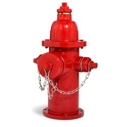 "129s Fire Hydrant 36"" Bury Red C502 Double Pumper 2 Way (traffic Model) 5-1/4 Vo 6"" Mj L/access O.l. CAT645,129,"