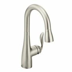 5995srs Moen Arbor Spot Resist Stainless Ada Lf 1 Hole 1 Handle Bar/prep Faucet Pull Down CAT161,5995SRS,5995SRS,026508231968,