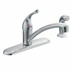 67430 Moen Chateau Ada Pc Lf 4 Hole 1 Handle Kitchen Faucet Side Spray CAT161,67430,67430,67430,026508052884,