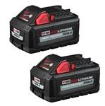 48-11-1862 Milwaukee M18 Redlithium High Output Xc6.0 Battery 2-pack