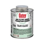 30925 Oatey 16 Oz Abs To Pvc Transition Green Cement CAT468O,30925,038753309255,OT16