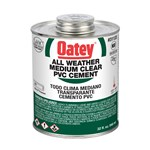 31133 Oatey 32 Oz Pvc All Weather Clear Cement CAT468O,31133,038753311333,AWC32