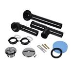 A8227 Dearborn W & O Full Kit Black Plastic Uni-lift Chrome