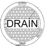 Mh117d Sigma Manhole Ring And Cover Marked D-r-a-i-n For Storm Drain Junction Box CAT686I,MHC,MH117D,DMH,