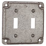 "Rs5 Steel City 4"" Sq 2 Gang Switch Cover CATD724,RS5,78599112038,CATDEV50,CATDEV99,D724,078599112038"