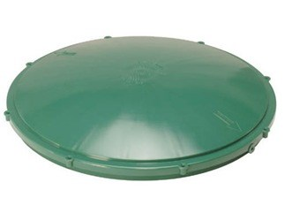12-risl Tuf-tite 12 In Green Domed Riser Lid CAT467GG,TTDL12,