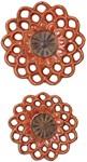 08505 D-w-o Carilla Medallions Ceramic S/2 16x16 Wall Decor CATDUTT,08505,CATDUTT,