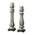 19551 D-w-o Deniz Candleholder Ceramic S/2 6x22 CATDUTT,19551,CATDUTT,