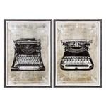 32536 D-w-o Uttermost Classic Typewriters S2 Art 20x28 CATDUTT,32536,CATDUTT,792977845912