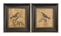 41161 D-w-o Colorful Birds On Branches S/2 25x27 Hand Painted By Grace CATDUTT,41161,CATDUTT,