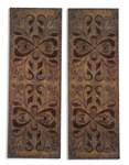 13643 Uttermost Alexia 15 X 41 X 2 Antique Rust Brown Panel Mirror Wall Decor