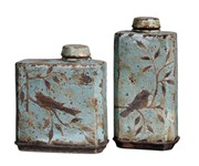 19547 Uttermost Freya Light Sky Blue Containers, Set/2