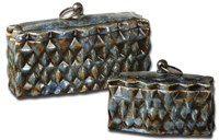 19618 Uttermost Neelab Ceramic Containers, Set/2 CATUTT,19618,792977196182