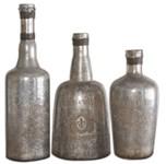 19753 D-w-o Uttermost Lamaison Silver Mercury Glass Bottles Set Of 3 CATUTT,19753,792977197530