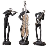 19061 Uttermost Musicians Decorative Figurines, Set/3 CATUTT,19061,792977190616