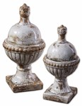 19231 Uttermost Sini Ceramic Finials, Set/2 CATUTT,19231,792977192313