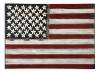 13480 Uttermost 36 X 26 X 1 Red/white/blue American Flag Wall Decor CATUTT,13480,792977134801