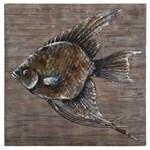 4273 D-w-o Uttermost 40 X 40 X 2 Gray/brown/black Iron Fish Wall Decor CATUTT,04273,792977042731