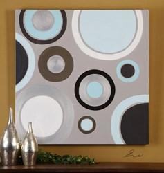 34408 D-w-o 40x40 Optical Art By Eve CATDUTT,34408,CATDUTT,