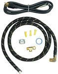 8212488rc 6 Reinforced Braid Dishwasher Hook Up Kit (with 4 Cord) Includes A 6-ft Braided Water Supply Line, 5-ft Power Cord, Tefl