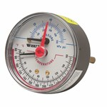 1/2 Dptg3-3 0-200 Psi 60-320 F Back Entry Pressure And Temp Gauge 3 In