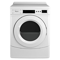 """Whirlpool White 27"""" Commercial Gas Front-load Dryer, Non-vend Commercial Laundry CAT302W,883049433639"""