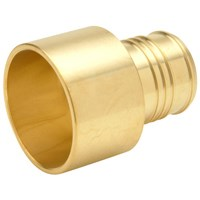 Qq975gx Lf Xl Brass Sweat Adapter - 2 Male Sweat X 2barb CAT470PEX,QQ975GX,084169020604,ZPSAK,84169020604
