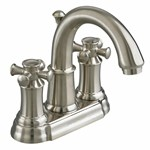 7420.221.295 American Standard Portsmouth Satin Nickel Pvd Lead Free 4 In Centerset 3 Hole 2 Handle Bathroom Sink Faucet 1.5 Gpm
