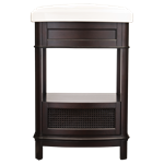 9210.224.322 Portsmouth Chocolate 23-3/4 X 19-1/2 Vitreous China Wood Wall Mount Vanity