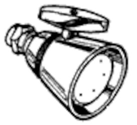 202 Cp Brass Shower Head CAT194,