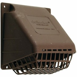 Hr4b Wide Mouth Vent Hood With Removeable Bird Guard 4in Brown Hood And Damper CAT305,HR4B,079916502045,HR4B,079916502045