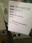 919973 Mam 5 Ton 120k 13 Seer 460v 3ph Gas/elec Pkg Unit Salvage Status M CATD313C,R6GD-X60D120C,R6GD,