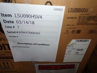 Lsu090hsv4 Lg 9k Btu 21.5 Seer 208/230 Volts Mini Split Outdoor Scratch And Dent Status M CATD317LG,LSU090HSV4,LSU,EnergyStar,green,STAMD317LG006,