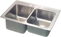 Stlr-4322-l-4 43x22 Dbl Compartment Elkay 18 Ga Ss Lustertone Sink Top Mount CATD140C,STLR4322L4,SINKS,STLR4322L4,STLR4322L4,94902073125,